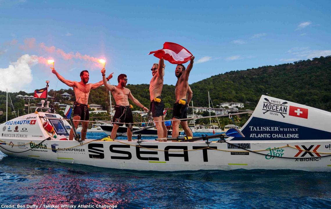 In 30 Tagen über den Atlantik gerudert - das Swiss Mocean Team erzählt von ihrem grossartigen Erfolg (Freitag, 23.03.2018 um  20.00 Uhr)